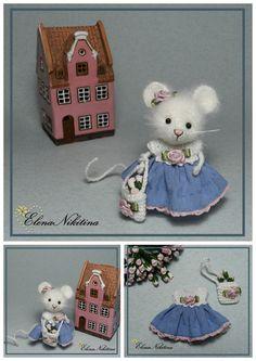 Miniature Mouse hand made by Elena Nikitina