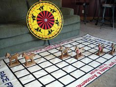 Horse racing using spin wheel instead of dice.