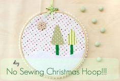 DIY No Sewing Christmas Hoop!!!!