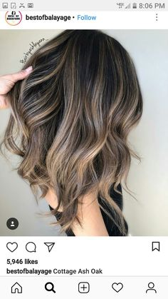 Hair Color Ideas For Brunettes Balayage, Brown Hair Balayage, Balayage Brunette, Hair Color Balayage, Brunette Hair, Hair Highlights, Dark Hair, Hair Looks, Hair Lengths
