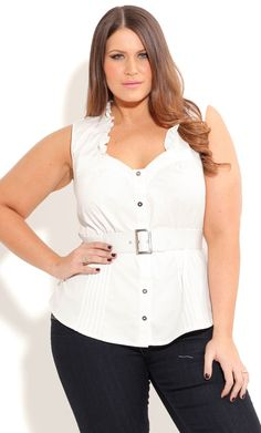 f6474953b26 Shop Women s Plus Size Women s Plus Size Sexy Siren Shirt with Belt