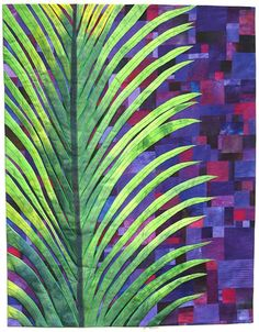 "Frond, 55 x 60"", by Carol Taylor 