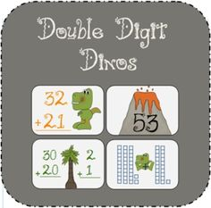 This double-digit math game allows hands-on practice with two digit numbers and place value.