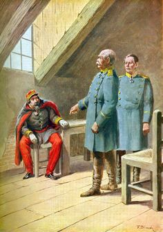 Emperor Napoleon III surrenders to Otto von Bismarck and Baron von Moltke in Sedan German Confederation, Otto Von Bismarck, Austro Hungarian, French Empire, Second Empire, Prussia, Napoleon, Emperor, Arquitetura