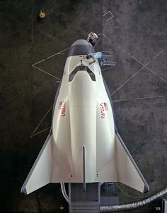 HL-20 - Personnel Launch System (mock-up) in 1991 at NASA Langley. Spaceplane.