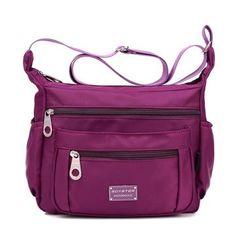 Women Nylon Light Bags Casual Waterproof Shoulder Bags Outdoor Travel Crossbody Bags