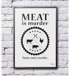 Meet is murder... - 70x50cm - TastyTexty - Wydruki i plakaty