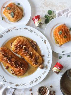 This hasselback butternut squash is perfect for Thanksgiving - and you can easily make it two ways! We have a maple pecan hassleback butternut squash and a brown butter sage hasselback butternut squash. Delicious! I howsweeteats.com #hasselback #butternutsquash Christmas Recipes Dinner Main Courses, Thanksgiving Recipes, Easy Dinner Recipes, Fall Recipes, Holiday Recipes, Over Easy Eggs, Maple Pecan, Bread Appetizers, Cheap Meals