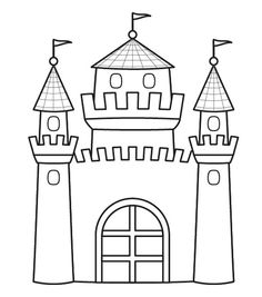 Castillo de princesa: dibujo para colorear e imprimir Baby Drawing, Drawing For Kids, Art For Kids, Craft Activities For Kids, Crafts For Kids, Disney Drawing Tutorial, Exam Pictures, Castle Crafts, Castle Drawing