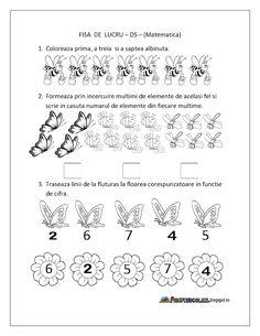Fise de lucru - gradinita Kindergarten Science, Kindergarten Worksheets, Preschool Activities, Insect Activities, Educational Activities For Kids, Printable Preschool Worksheets, Worksheets For Kids, Kids Schedule, Activity Sheets