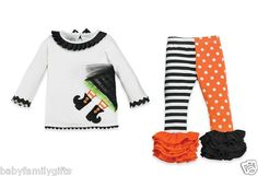 Mud Pie Halloween Baby Girl Toddler Witch Tunic And Legging Set  $35.99 Sold at Baby Family Gifts Ebay