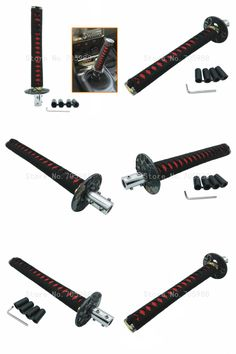 [Visit to Buy] Red Black 265mm JDM Katana Samurai Sword Shift Knob Shifter With Adapters Fit Most Cars  #Advertisement