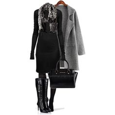 A fashion look from December 2014 featuring long dresses, slim coat and lined tights. Browse and shop related looks.