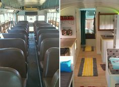Father and son transform school bus into solar powered tiny home