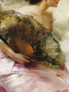 After the Ball, Detail. by Conrad Kiesel (1846-1921)