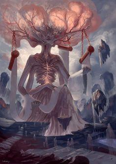 Digital Art Fantasy Angels Ideas For 2019 Dark Fantasy Art, Fantasy Artwork, Fantasy Concept Art, Fantasy Kunst, Fantasy World, Fantasy Monster, Monster Art, Art Épouvante, Arte Obscura
