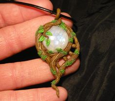 Elven Moon  handcrafted Pendant with wonderfull by MiraCrafts, €26.50