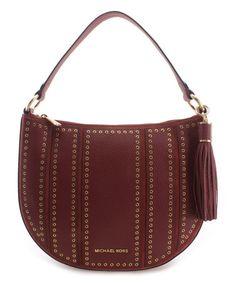 ca520efff352e Michael Kors Brick Grommets Leather Crossbody Bag