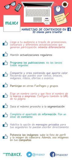 #Infografía: Marketing de contenidos en 10 claves para triunfar Por @maxcf