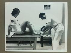 Vintage Original 8x10 Jai Alai Press Photo Getting Taped Zabala Locker Room | eBay