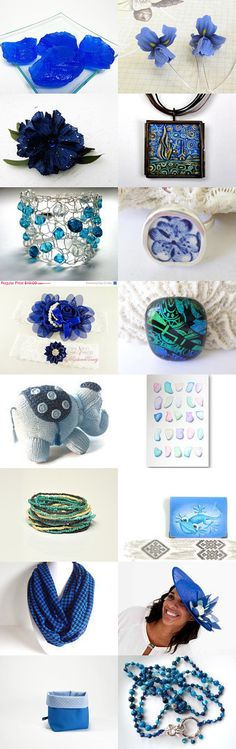 Feeling Blue by Linda Mayville on Etsy--Pinned with TreasuryPin.com