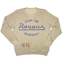 Montreal Royals Vintage Sweatshirt Source by Vintage Sweaters, Vintage Tees, Montreal, Vintage Sportswear, Graphic Tees, Graphic Sweatshirt, Textiles, Vintage Outfits, Shirt Designs