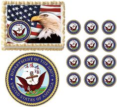 United States NAVY Military Edible Cake Topper Image Frosting Sheet NAVY SEAL #ProfessionalBakeryQuality