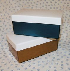2 vtg c60s Insulex insulated butter boxes bronze & blue VW camping shabby chic