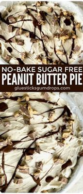 Looking for a low carb dessert? This crustless no-bake, sugar-free peanut butter pie is just what you need! It tastes rich and decadent without all the added carbs and sugar that will ruin your healthy eating plan :: WW 9 Freestyle Points Sugar Free Desserts, Sugar Free Recipes, Low Carb Desserts, Dessert Recipes, Paleo Dessert, Sugar Free Candy, Cupcake Recipes, Diabetic Friendly Desserts, Diabetic Recipes