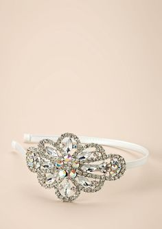 Flower center crystal cloud headband by Cara Couture