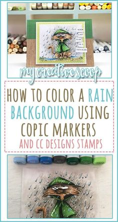 How to Color a Rain Background using Copic Markers Cat – Rain Coat – Ground – Rain – Copic Marker Art, Copic Pens, Copic Sketch Markers, Copic Art, Copics, Color Of The Day, To Color, Copic Markers Tutorial, Zentangle