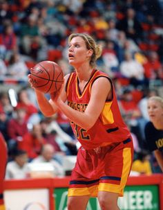 Angie Welle, Iowa State's all-time leading scorer with 2,149 points, was   named a three-time All-American by The Associated Press in 2000,   2001 and 2002. Her jersey number was recently retired in 2010.