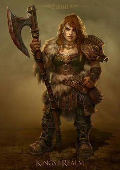 dwarf female fighter barbarian