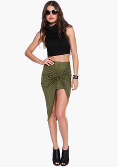 Nauty Maxi Skirt in Olive | Necessary Clothing