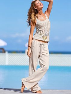 Supermodel Essentials French Terry Stripe Boyfriend Pant #VictoriasSecret http://www.victoriassecret.com/sleepwear/lounge/french-terry-stripe-boyfriend-pant-supermodel-essentials?ProductID=90808=OLS?cm_mmc=pinterest-_-product-_-x-_-x