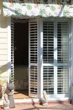 sliding plantation shutters for patio doors-hmmmmm Glass Door Coverings, Window Coverings, Window Treatments, Sliding Patio Doors, Sliding Glass Door, Sliding Windows, Louvre Windows, Door Grill, Interior Doors For Sale