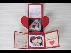Heart lock accordion card Tutorial by Srushti Patil - YouTube