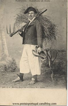 Minho, Portugal : Trabalhador Folk Clothing, Portugal Travel, Old Postcards, Minho, Old Pictures, First World, The Past, Poster, The Incredibles