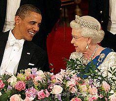 President Obama and Queen Elizabeth II