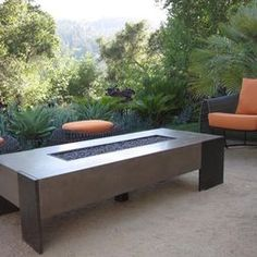 Courtyard design privacy walls and wooden walls on pinterest for Concreteworks fire table