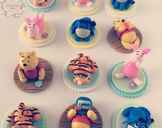 12 super cute jungle animals. Perfect for your baby girl or baby boy birthday / baby shower This listing includes 12 toppers 2 lions 2 zebras 2 hippos 2 monkeys 2 giraffe 2 elephants Toppers are 2 diameter and 100% edible   **** please allow at least 2 weeks for making the toppers and a week to ship   - When placing your order please add a note with your event date. I work by the date of when you need the toppers. I recommend to all my customers at least one month in advance for every or...