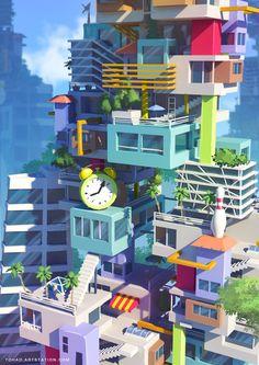 MacDonald/Monopoly concept art, Sylvain Sarrailh on ArtStation at https://www.artstation.com/artwork/zzn32
