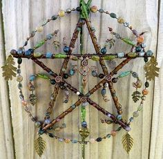 pagan crafts Earth Mother handcrafted pentacle from KM Fields Elemental Sp Pentacle, Carillons Diy, Diy And Crafts, Arts And Crafts, Wiccan Crafts, Pagan Art, Pagan Decor, Book Of Shadows, Witchcraft