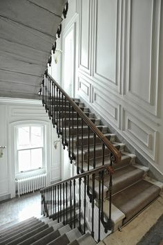 greige: interior design ideas and inspiration for the transitional home : stairs