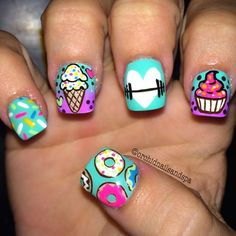 Instagram media orchidnailsandspa - DO IT FOR THE DONUT #nail #nails #nailart