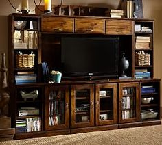 Will potentially need a wall unit for TV upstairs and/or downstairs.  Furniture Clearance Sale & Bedding Clearance Sale | Pottery Barn