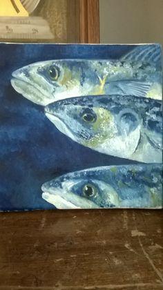 oil painting of mackerel