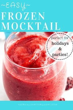 Fun frozen mocktail for kids or adults! Easy to make with just 2 ingredients. #mocktail #kids #holidaydrinks #LifeAfterWheat