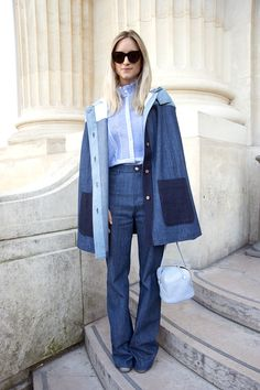 Team a Victorian-inspired blouse with polished denim separates. Leaving much to the imagination has never looked this chic.