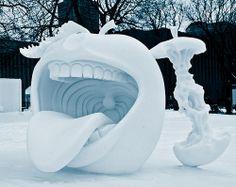 Sculpture sur Neige au Carnaval de Québec par Pierre-Alexandre Garneau